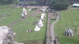 A view of the Garrison camp in Cardiff Castle