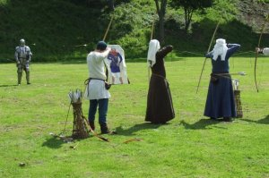 An archery display