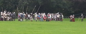 Several Garrison members mustering for the battle at Caldicot Castle.