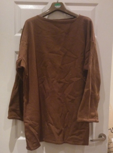 brown wool tunic
