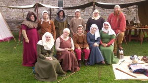 Garrison members at Chepstow Castle