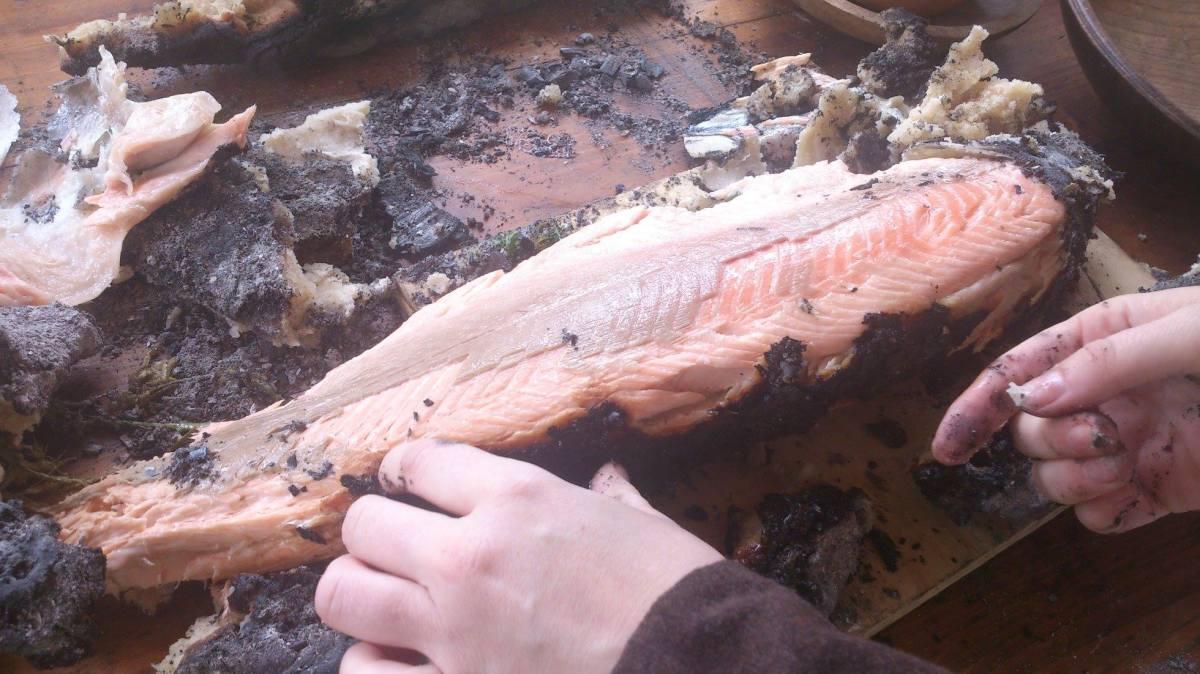 Recipe: Salt-dough salmon