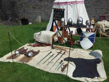 Weapons and armour display