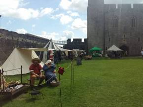 Garrison encampment plus various traders in castle Inner Ward