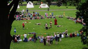 Mark Vance's medieval combat group in a display fight