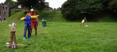 Members of the public try have-a-go archery