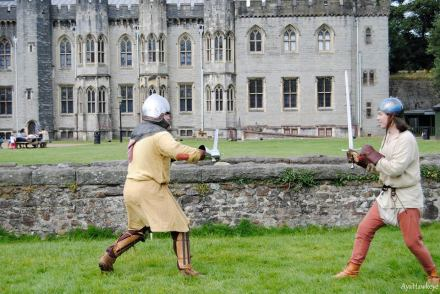 Group members practicing combat