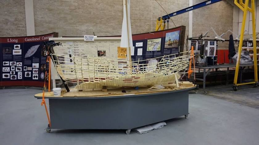 A model of the 15th century ship