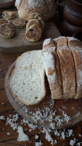 Fresh bread from the cookery display