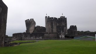 Caerphilly Castle inner ward