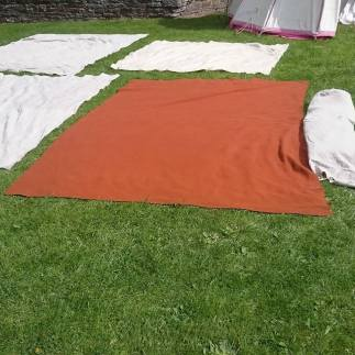 Medieval bedding drying in the sun