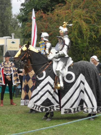 Knights from historic jousting group Destrier