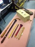 Display of medieval musical instruments