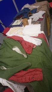 Medieval clothing display