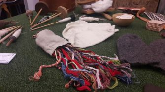 Various fingerloop braids from the craft table