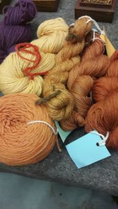 display of yarn dyed using authentic technique